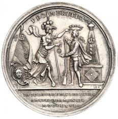 Netherlands, Amsterdam - Medal 1771 'Price of Protecting Society for the Shooter King' - silver
