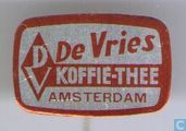De Vries koffie-Thee Amsterdam [rood]