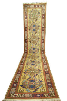 Regal Runner from MESHKIN-SHAHR Persia from 1970s-1980s  c.  430x100cm