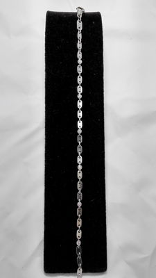 Bracelet in 18 kt white gold with diamonds - 0.60 ct, G/VVS1