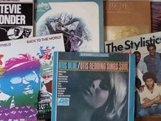 Otis Redding, Curtis Mayfield. Lot of twelve fabulous soul records from the sixties and seventies.