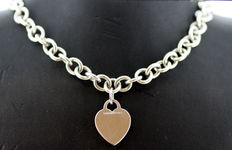 "Tiffany & Co. - ""Return to Tiffany"" Sterling Silver Necklace, Made in London 1990's - Length : 40 cm - no reserve price"