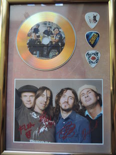 Lot Red Hot Chili Peppers Memorial -  Gold Plated CD