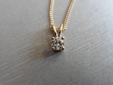 18k Gold Diamond Pendant - 0.50ct J  I1