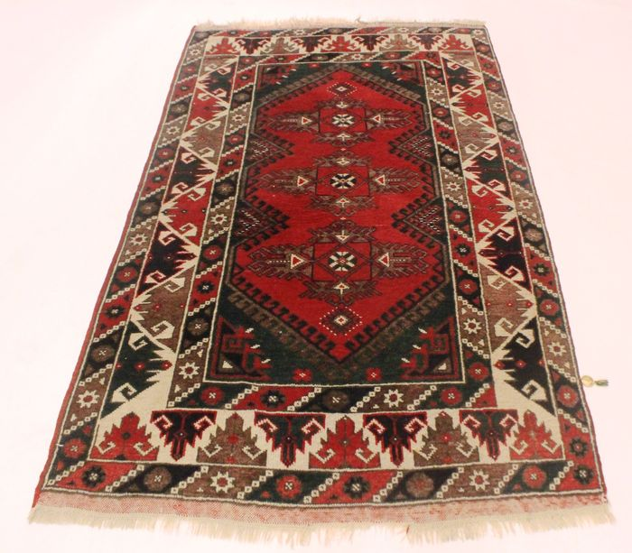 Antique Anatolian Oriental Carpet, Kars Kazak Carpet, 115