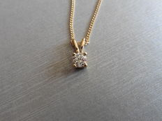 18k Gold Diamond Pendant - 0.70ct  I, I1