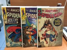 Marvel Comics - Amazing Spider-man #34, #49 And #52 - x3 SC - Silver Age Comics - (1966/1967)