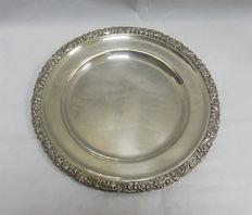 Round silver dish, Spain, 20th century