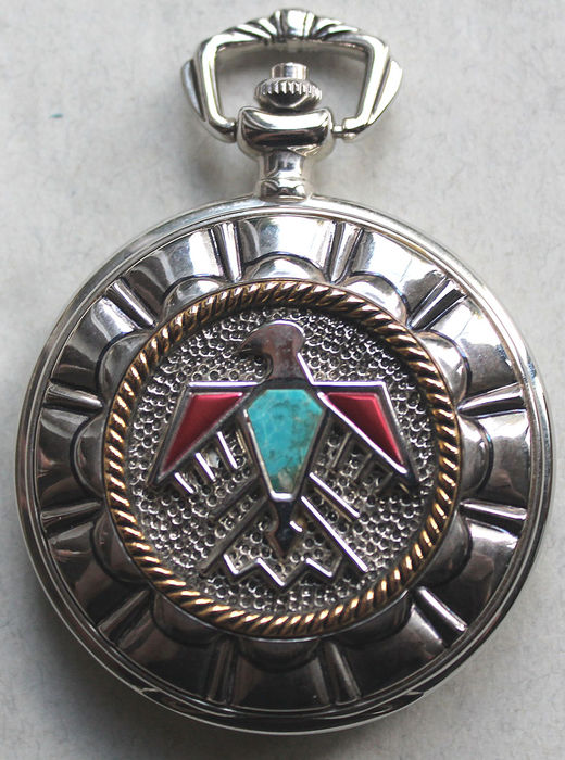 Franklin Mint - pocket watch - American heritage Indian Navajo