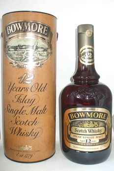 Bowmore 12 Year Old Whisky Dumpy Bottle - 1980s
