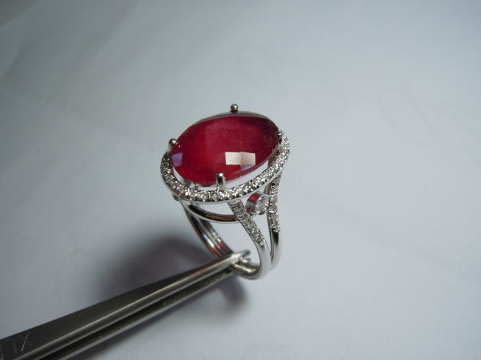 hand- made diamond ring