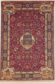 ANTIQUE TABRIZ PERSIAN CARPET, circa 1880