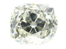 Certified old mine cut - old cushion cut diamond - 1.38 ct, J - SI1 - polished around 1850!