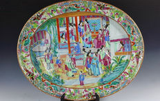 Canton famille rose plate - China - 19th centuy