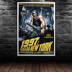 Escape from New York - Original Italian movie poster - 1981 - Size: 100x140cm - John Carpenter's Escape from New York starring Kurt Russell