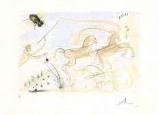 """Salvador Dali – The Coach and the Fly from """"Le Bestiaire de la Fontaine Dalinis"""""""