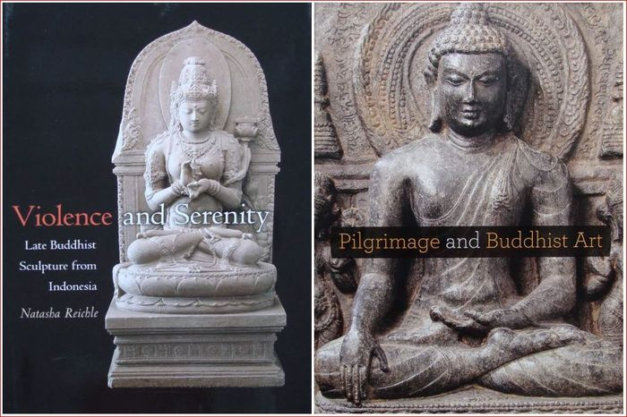2 Books : Late Buddhist Sculpture from Indonesia + Pilgrimage and Buddhist Art  (2) - Mint Condition - Asia - mixed