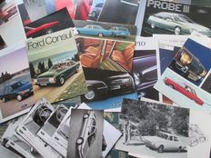 Car brochures (Ford, including Granada/Consul/Corsair, 19 brochures/56 press photos, 1969-1994)