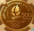 "Frankrijk 500 francs 1989 (PROOF) ""1992 Olympics - Ice skating couple"""