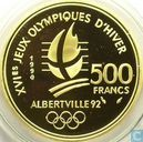 "Frankrijk 500 francs 1990 (PROOF) ""1992 Olympics - Speed skating"""