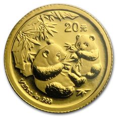 China People's Republic – 20 Yuan, 1/20 oz  2006, gold