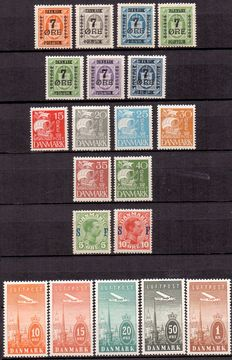 Denmark 1912/1934 - Various series and stamps
