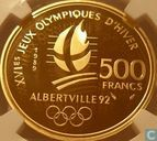 "Frankrijk 500 francs 1989 (PROOF) ""1992 Olympics - Alpine skiing"""