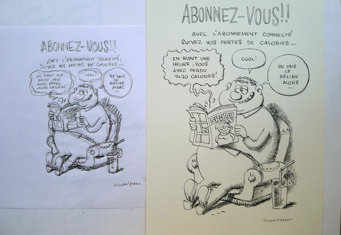Cromheecke, Luc -  Original illustration - Subscription advertisement for Spirou