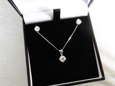 0.25ct Diamond Pendant and 0.50ct Earring Set