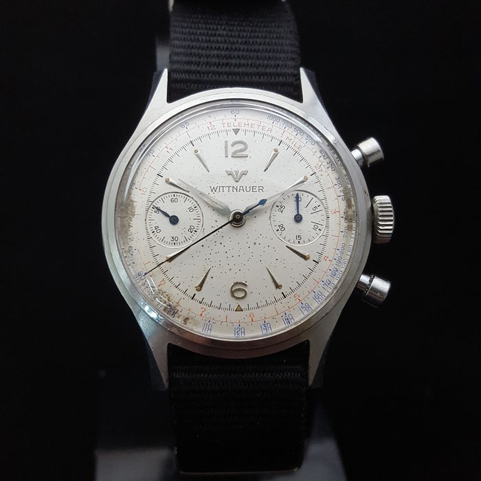 Wittnauer Watch Value >> Wittnauer Vintage Chronograph Men S Watch 1950 S Catawiki