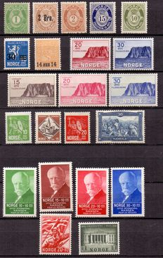 Norway - Various series and stamps