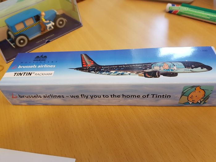 Hergé – Brussels Airlines Model Airplane – Airbus A320 Rackham – Tintin (2015)