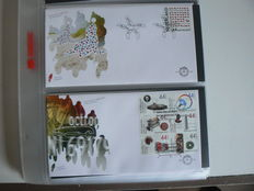 The Netherlands, 2010-2012, three years of FDCs, NVPH E600-E663