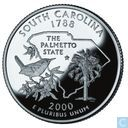 "USA  ¼ dollar  ""South Carolina""  2000 S-clad PROOF"