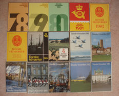 Denmark 1978/1992 - collection of 15 official year collections.
