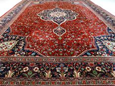 Keshan - 396 x 300 cm. - eye-catcher - oversized - exclusive design - oriental carpet in wonderful condition.