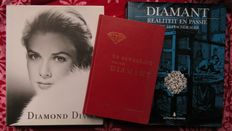 Precious stones; Lot with 3 books on diamond art and industry - 1956 / 2008