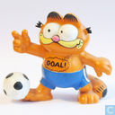 "Garfield avec le football ""Goal!"""