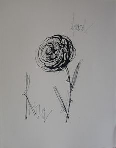 Bernard Buffet (after) - La Rose Rosa