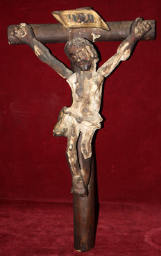 Important Renaissance Christ in polychrome wood. 16th century