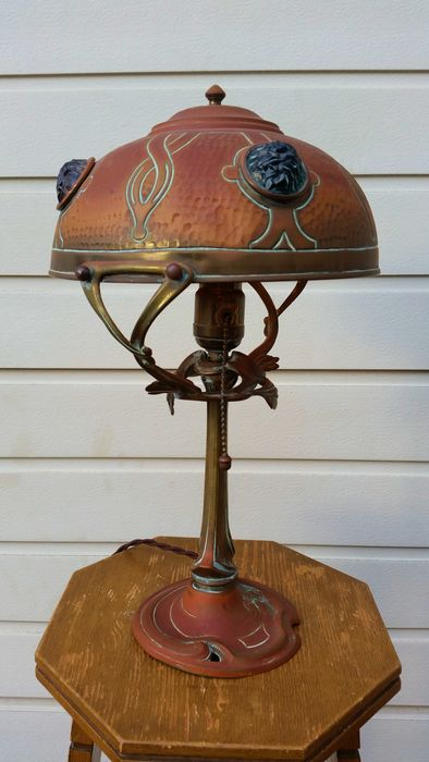 Hermann Eichberg Art Nouveau Lamp