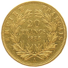 France – 20 francs 1854A -