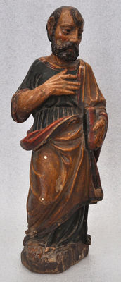 Important polychrome wood carved piece - 17th century