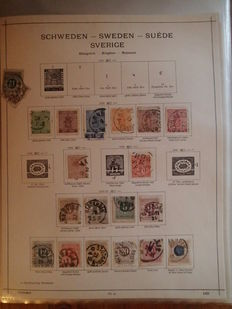 Sweden 1885/1970 - Collection on old Schaubek pages
