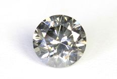 Diamond - 0.41 ct Fancy Grey - No reserve price