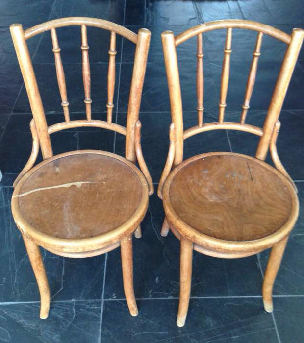 Thonet   A Couple Of Beechwood Café Chairs   Germany   Probably Late  19th/early