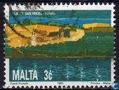 Postage Stamps - Malta - Fort St. Michael in Valletta