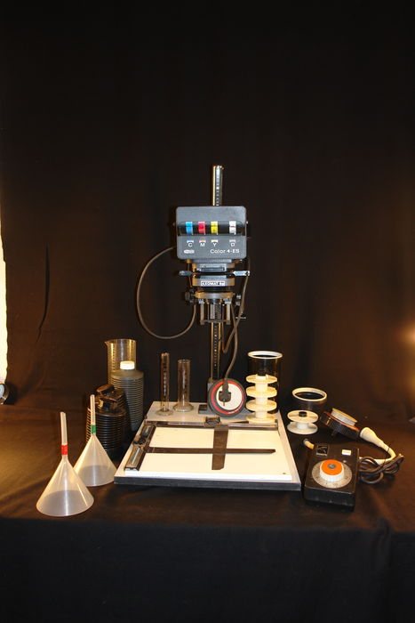 Enlarger Axomat 5a with Color 4-es color head, Rodenstock 1:4 F-50