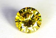 Gele Diamant - 0.34 ct