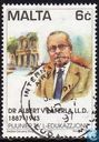 Postage Stamps - Malta - Famous teachers